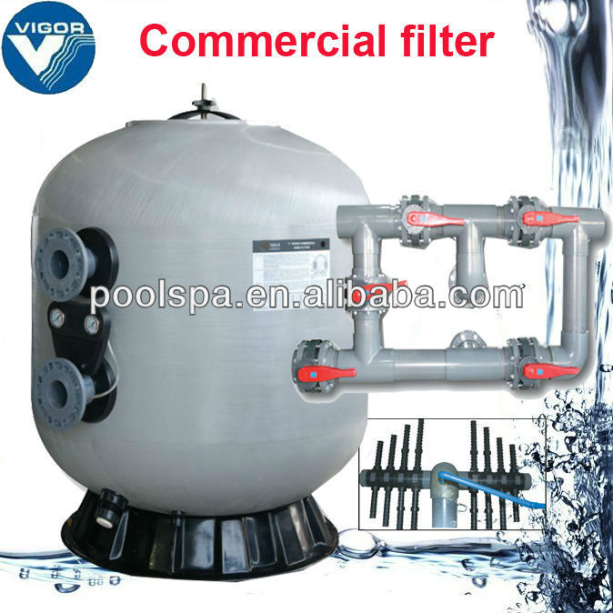 NL series commercial sand filter with nozzles