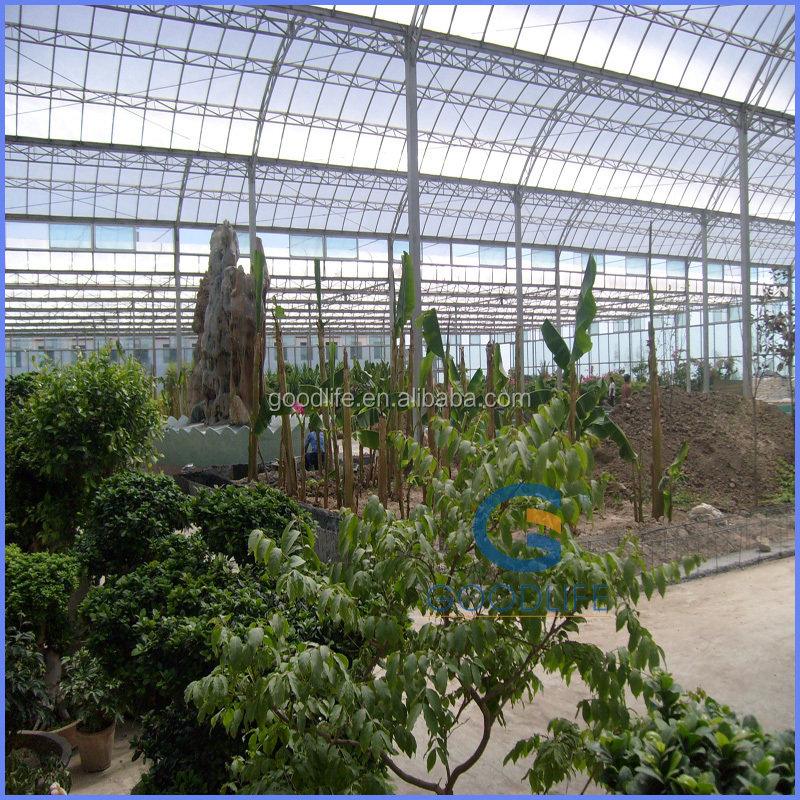 2015new UV protection greenhouses structure with hydroponic system with anti-fog