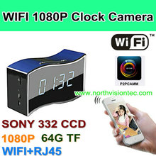 Adopt SONY332 Camera Module! 1080P desk clock hidden camera, taking clearest video you ever seen