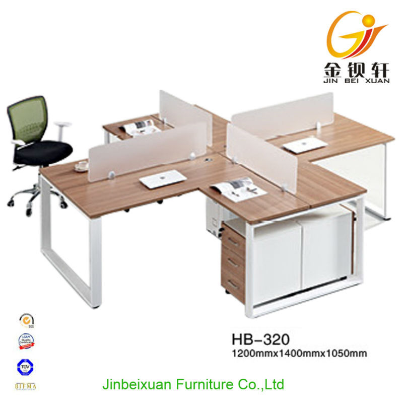 4-seat high-end office furniture computer desk workstation divider