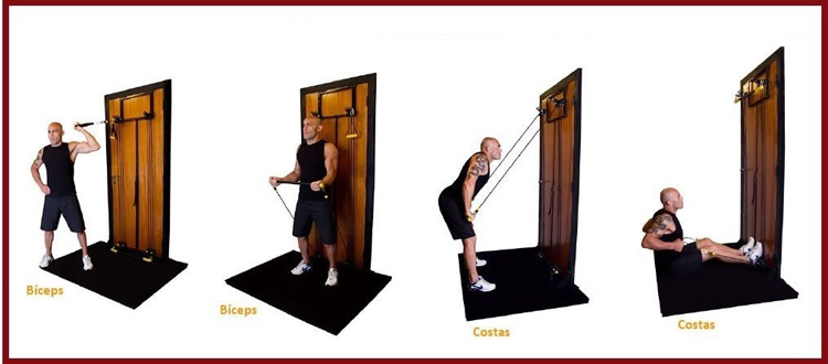 Easy used cheap portable foldable home gym door fitness