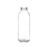 500ML empty clear beverage glass bottle with lug cap