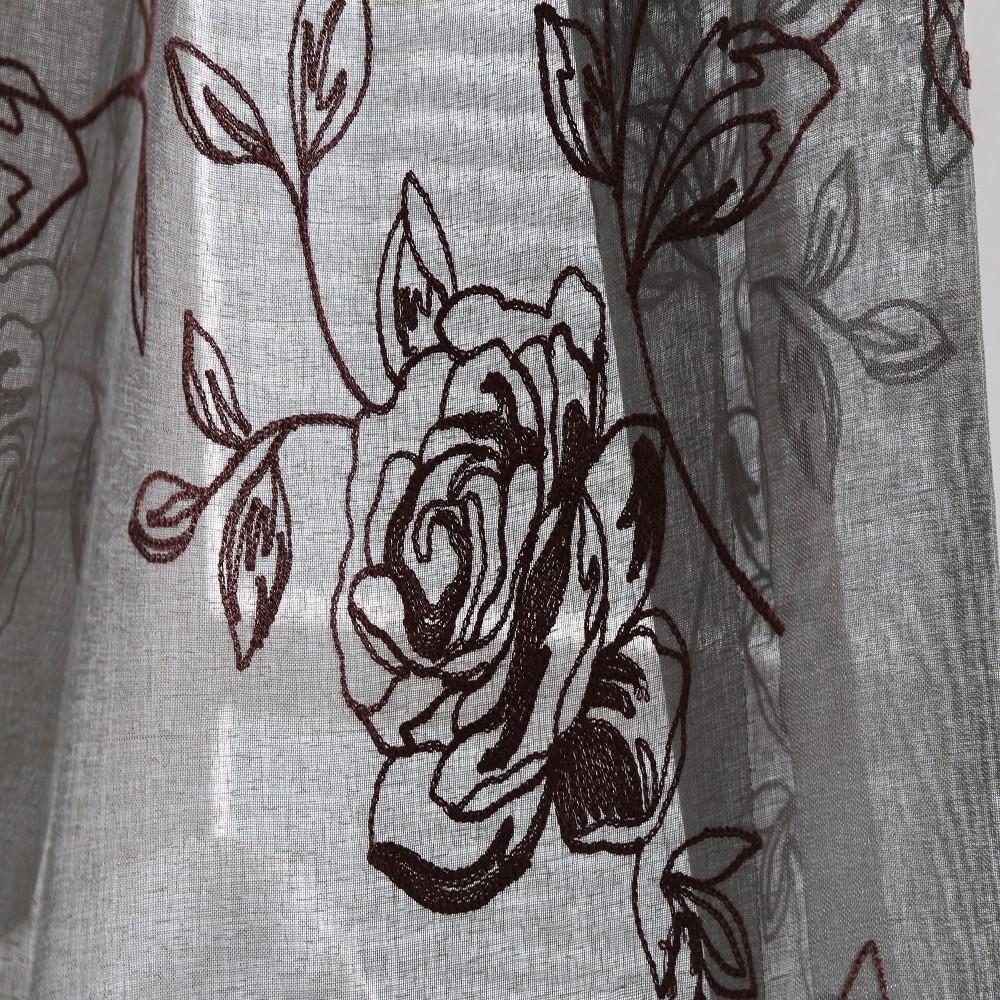 Creatieve indiër geborduurd linnen gordijnstof voor slaapkamer ...