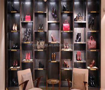 Retail S Wooden Shoes Rack Cube Display Shelf For Women Handbag