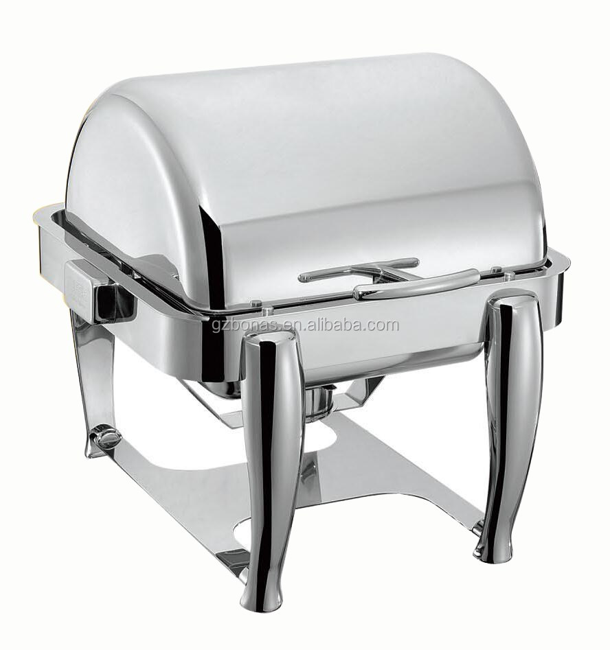 Table Food Warmer ~ Chafing dishes with cover dish roll top table