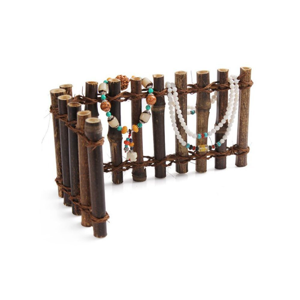 Aoert Chinese Wood Jewelry Display Panels Stands for Bracelets Necklaces etc - Jewelry Trays Brown Wood