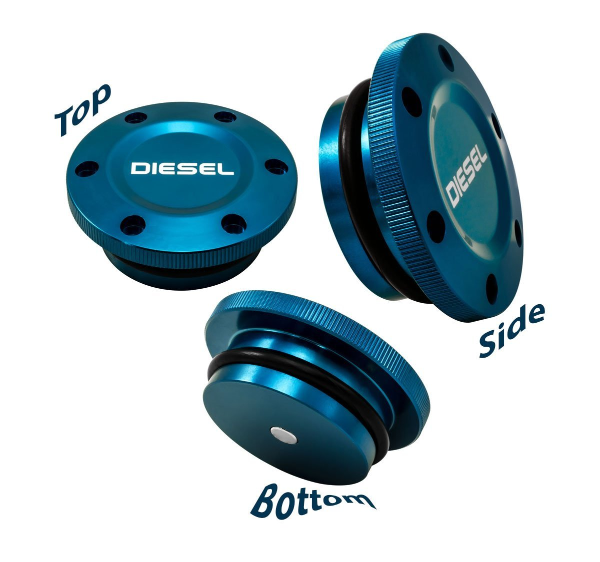 3c51ef7010a Get Quotations · 2013-2017 VMS Racing MAGNETIC FUEL CAP in BLUE Anodized  Billet Aluminum for Dodge Ram