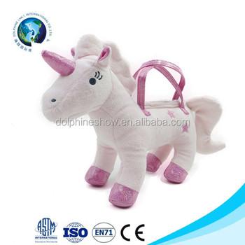 9d5d8fc46361 Plush Toy Unicorn Bag Stuffed Animal Handbag - Buy Unicorn Bag ...