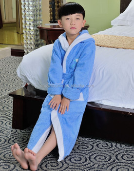 Chinese 100% Cotton Long Silk Towel Pajamas Sexy Robe For Children ... 7940246b2