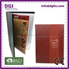 Decorative colorful metal clip board with pockets wholesale price in Alibaba