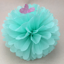 Colorful handmade Wedding and Party Decoration paper Pompoms flowers