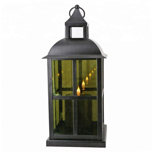 Home deco flameless LED candle holder large decorative lantern for candle