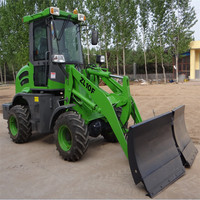 4wd hydraulic machine 1.2ton/1.6t/2t/3t/5t Skidsteer wheel Loader with Snow Blade for sale