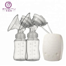 ZIMEITU Cheap OEM USB mother care rechargeable milk silicone breast pump double electric