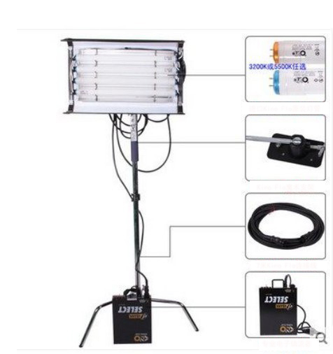 2ft 4bank 45W KINO FLO Cool Lights Fluorescent Studio Light +ballast As Kinoflo+tubes Daylight