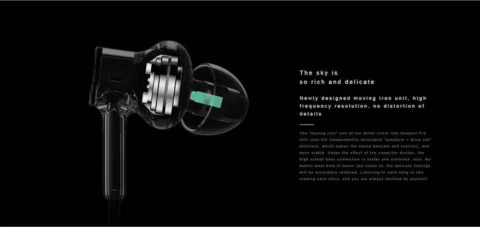 Xiaomi Hybrid Pro Earphones with Mic Voice Control    Mi In-Ear Headphones