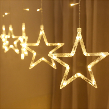 New Product 138 Led Twinkle Light 12 Star Curtain String Lighting For Holiday Christmas Wedding decorative