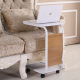 movable mini laptop small end table with 4 wheels