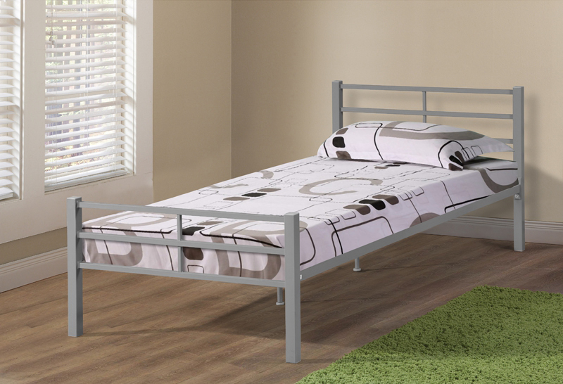 Manufacturing metal twin size super single bed frames