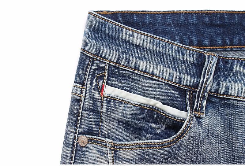 b8cf448b4fe Drizzte Brand Mens Jeans Trendy Stretch Blue Grey Denim Men Slim Fit Jeans  Trousers Pants Size 30 32 34 35 36 38 40 42 Jean