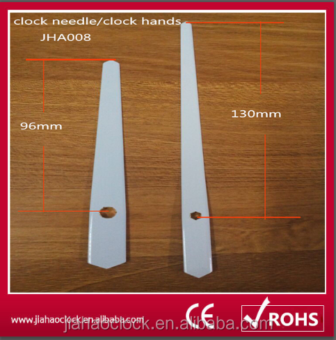 Aluminum white clock hands with clock movement
