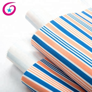 High quality heat transfer printed polyester printed colorful stripes canvas fabric