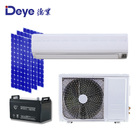 AC DC hybrid power brushless motor money saving frequency conversion 24000btu solar powered air conditioner
