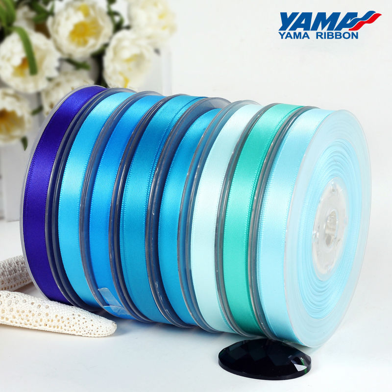196 colors available 16mm 100% polyester double face satin ribbon roll
