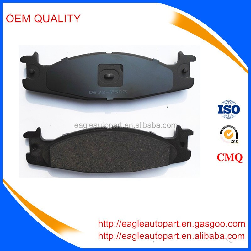 Best selling brake pads D632-7503 F5TZ-001-BC for Truck 150