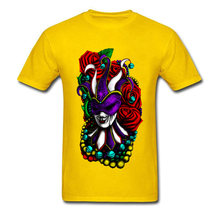 Mardi Gras Футболка женская футболка мужская футболка Черная Футболка красная роза топы Летняя новая одежда с принтом плюс размер(Китай)