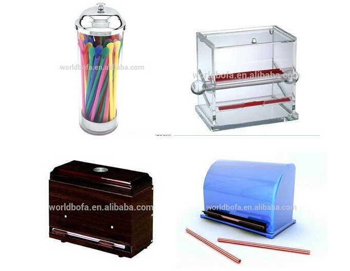 Customized design drinking straw holder tin can straw dispenser