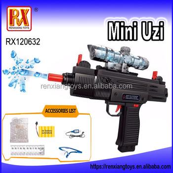 Rx Funny Mini Uzi Ner Gun Crystal Bullet Gun For Kids Buy Ner Gun