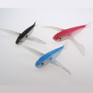 Peche Saltwater Trolling Lures Flying Fish Lure Soft Plastic Swim Baits Fishing Lures