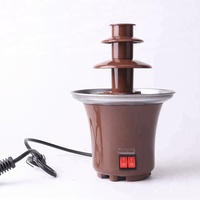 Anbo professional Multi-layer stainless steel cheese Chocolate Fountain with auger style-no pump