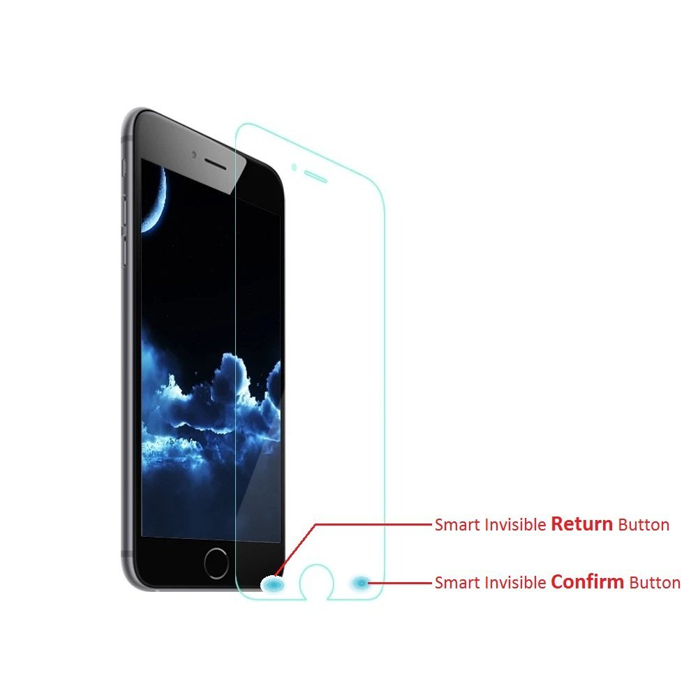 Cyxus Smart Touch Key Thinnest [0.2mm] (Invisible Return & Confirm Button) 9H Tempered Glass HD Clear Screen Protector for Apple iPhone 6S/6 (iPhone6 4.7 inch) (Smart Touch)