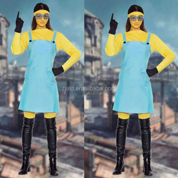 Simple Cosplay Minion Mujer Easy Girl Costume - Buy Easy ...