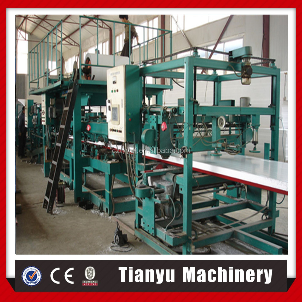 Cheap and hot selling PU/Phenolic /PIR sandwich duct panel continuous production line