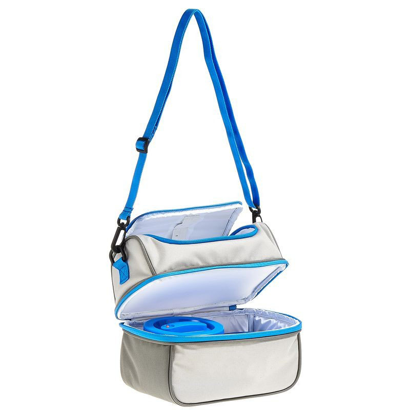 High quality hot sale insulated double compartment lunch cooler bag