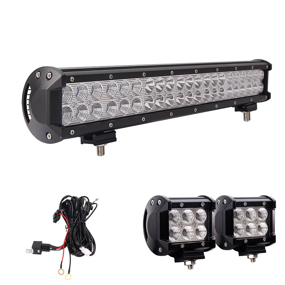 Cheap Wiring Diagram For Off Road Lights Find Cree Lighting Get Quotations Led Light Bar Northpole 20 126w Waterproof Spot Flood Combo