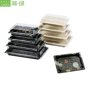 Easy Green Eco-Friendly Plastic Disposable Food Tray For Party With Lid