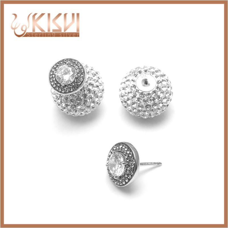 Shell 925 sterling silver earrings new design jewelry white cz earring silver factory