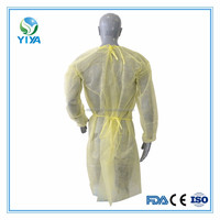 Disposable surgical yellow isolation gowns in surgical supply