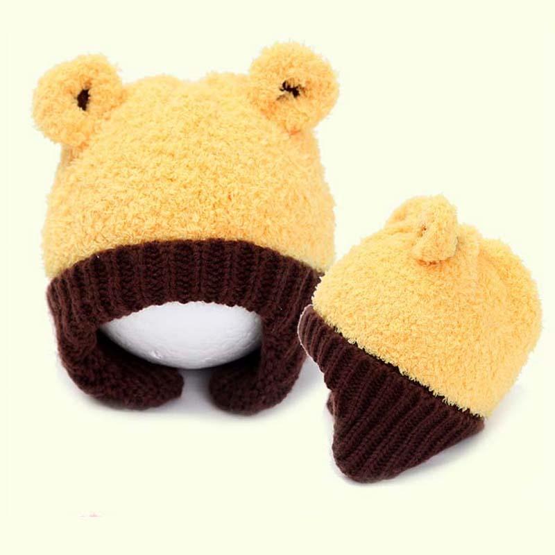 2bc65e93beb5 TSW6015 الكورية الشتاء قبعة الرضع طفل رضيع فتاة أحدث لطيف تحمل الطفل  القبعات الدافئة earflaps