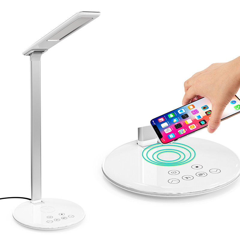 Led 표 Lamp 무선 충전기 Foldable Mobile Phone Usb Charging 대 한 폰 Led 메트 vintage Desk Lamp 와 Qi 무선 Charger