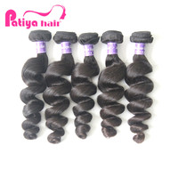 Patiya Cheap Real Loose Wave Human Hair Extensions Malaysian Romance Wave Human Hair Weft Extensions