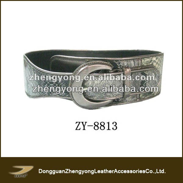 Casual Snake Pattern Genuine Leather Belts Lady