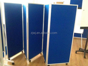 Office Folding Screen Room Divider With Wheels Partition Wall - Buy ...