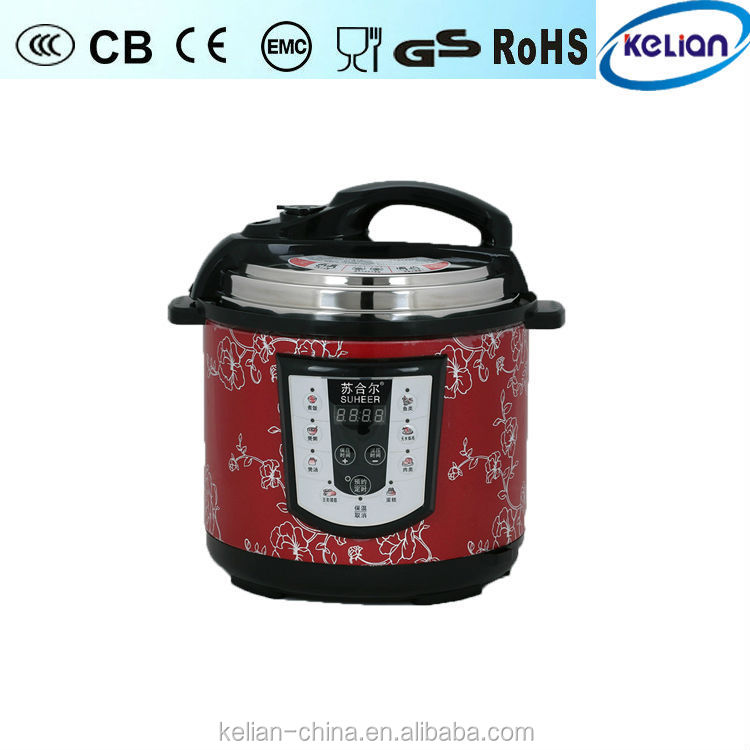 Multi-functional electric pressure rice cooker both digital panel and mechanical
