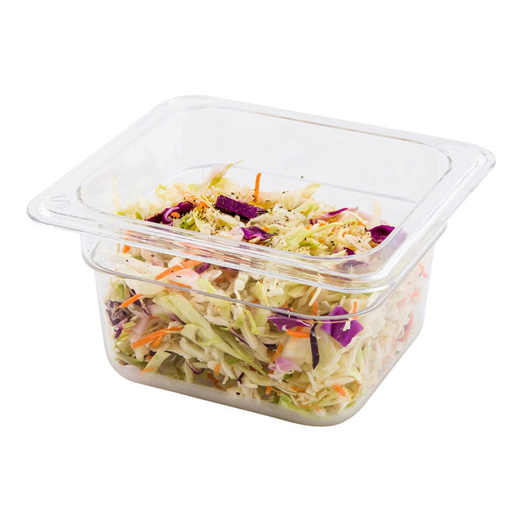 "Clear Plastic 2.5"" Deep Cold Food Storage Container"