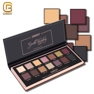 QIBEST OEM Makeup Cosmetic Wholesale Premium Matte Eye Shadow Eyeshadow Palette